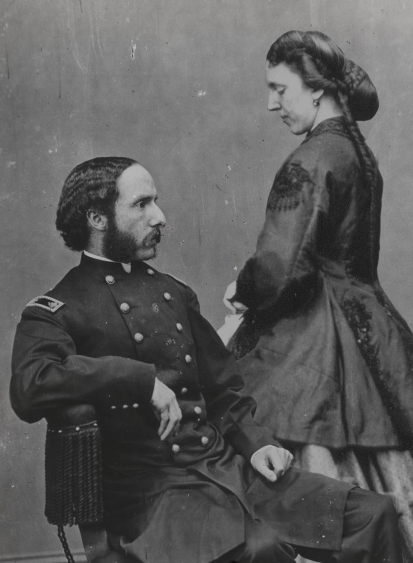 Major Henry Rathbone and Clara Harris (composite by the author)