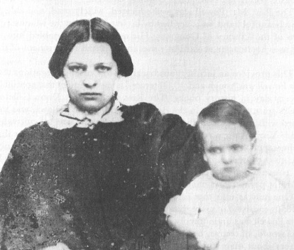 Lewis Powell as an infant with his mother Patience. From Betty Ownsbey's Alias Paine.