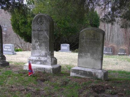 Col and Mrs. Cox Grave