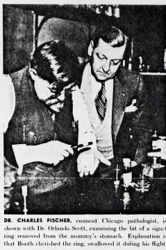Examining David E. George's Stomach Ring 1931