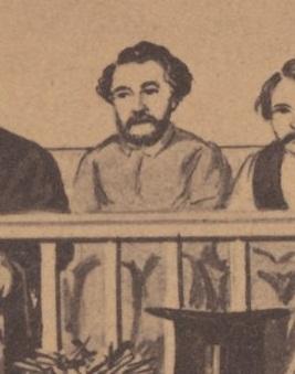 O'Laughlen Trial Drawing CDV