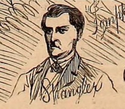 Sketch of Spangler from Harper's Weekly