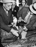 Taking David E. George's Fingerprints 1937