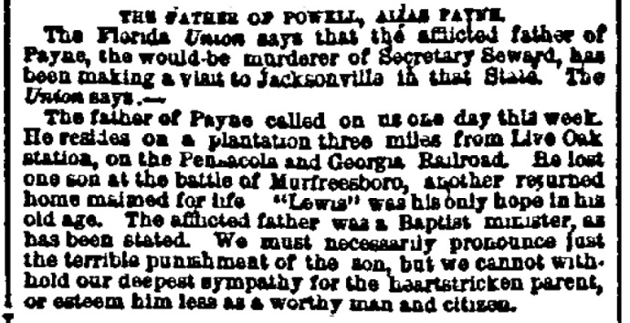 Woe for the Powells New York Herald 8-2-1865