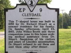 Cleydael Historic Sign