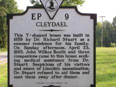 Cleydael Historic Sign