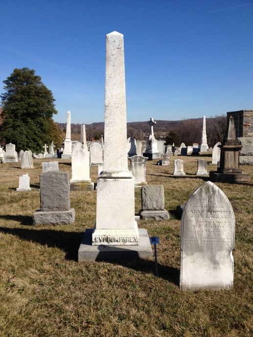 James W. Pumphrey is buried with his father Levi, in D.C.'s Congressional Cemetery.
