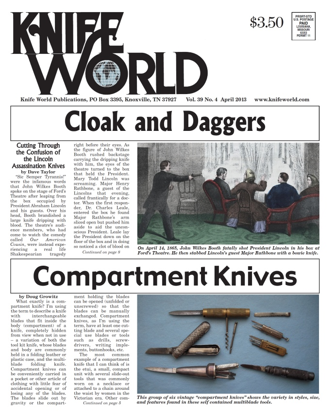 Cloak and Daggers Knife World April 2013