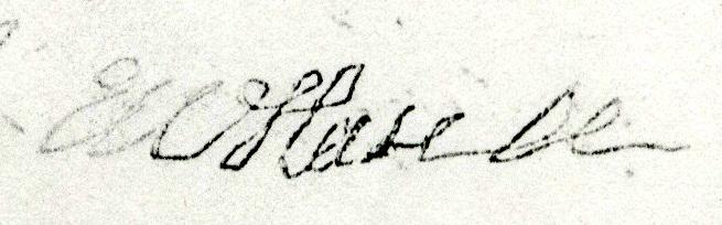 Emerick Hansell's signature