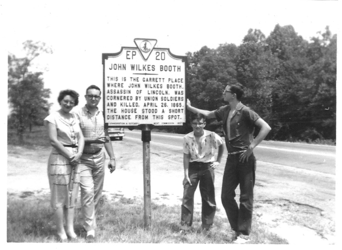 Judge Richard Hughes, far right, at the Garrett site with his mother and brothers in 1957