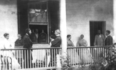 Seward family outside the house post assassination