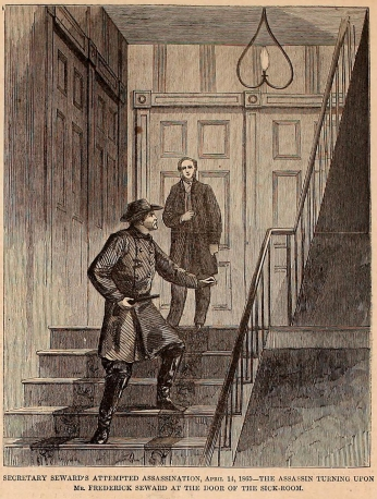 Up the Stairs Harper's Weekly 5-06-1865