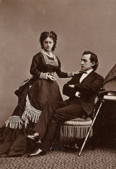 Edwin Booth and his wife Mary McVicker
