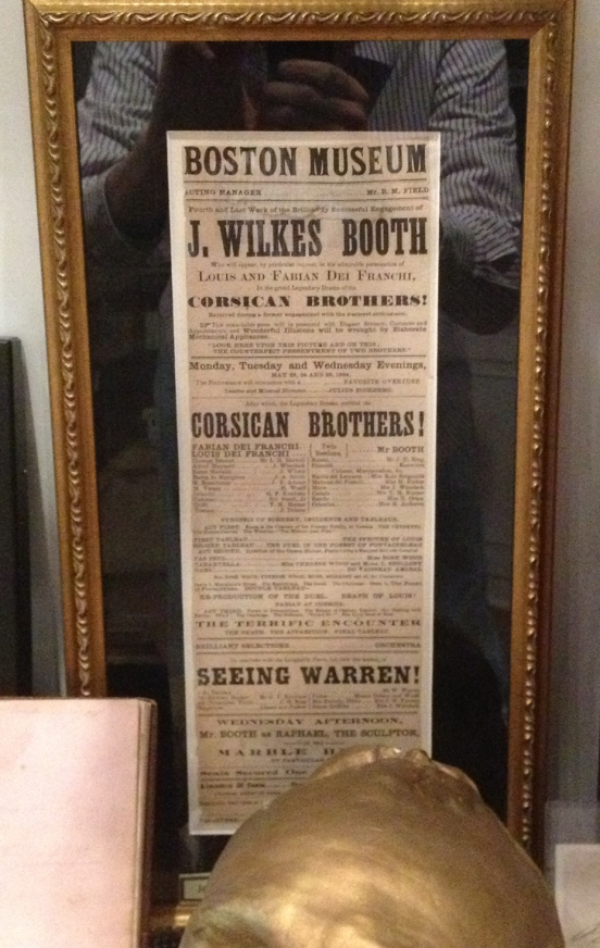 John Wilkes Booth playbill