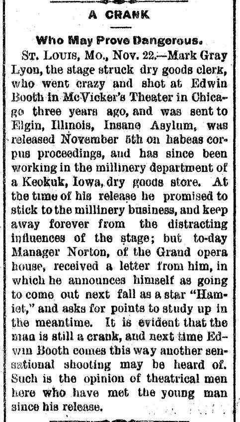 New Hamlet November 23 1882 Canton, OH