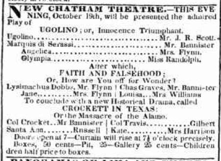 Ugolino October 19th 1839 New York Evening Post