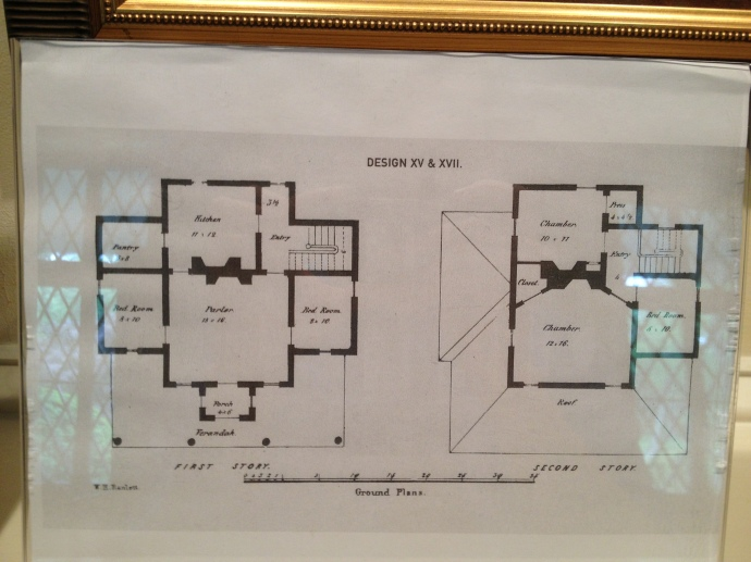 The original, interior layout of Tudor Hall.