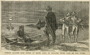 John Surratt escaping by boat