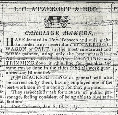 Atzerodt Carriage Shop Advertisement 1857.jpg