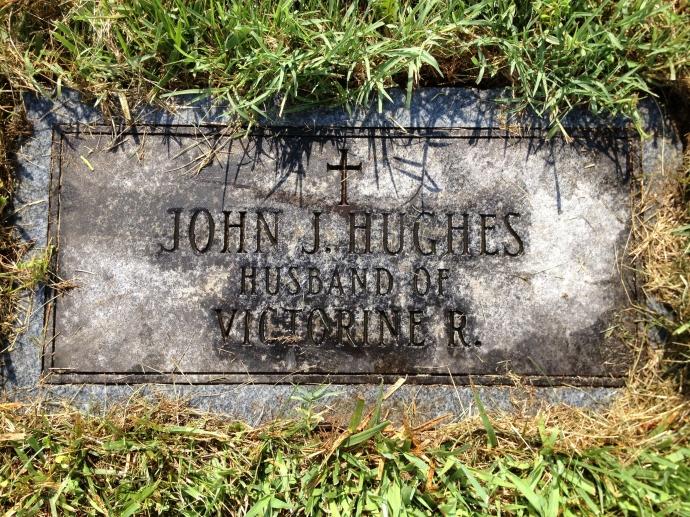 John J. Hughes' grave