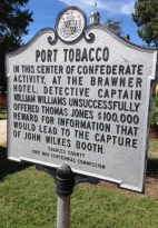 Port Tobacco Sign Jones