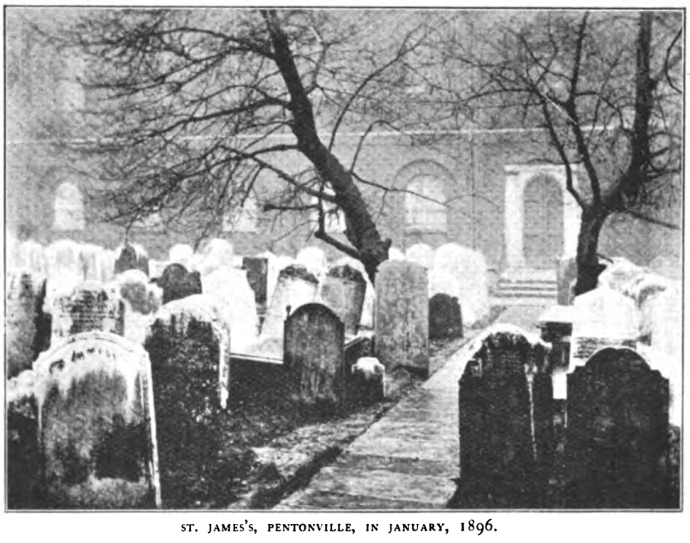 The cemetery in which Henry Byron Booth was buried.  This image was taken circa 1896, just before the cemetery was transformed into a park.