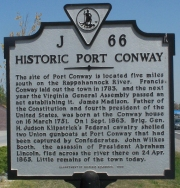 Historic Port Conway Sign