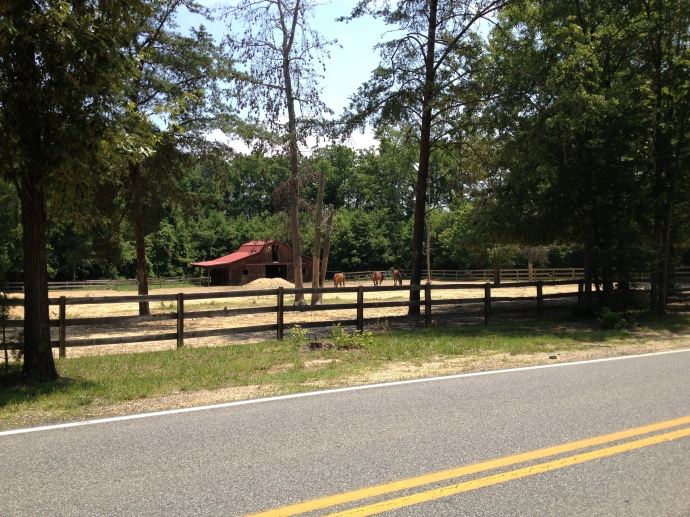 The location of Oswell Swann's house at the corner of Cracklingtown Road and Burnt Store Road near Hughesville, MD