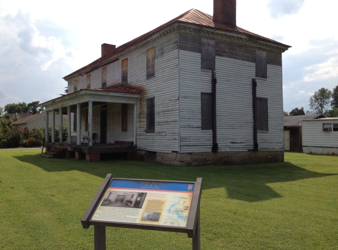 The home of Sarah Jane Peyton in Port Royal, VA