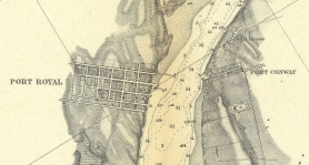 Port Conway Port Royal Map 1856