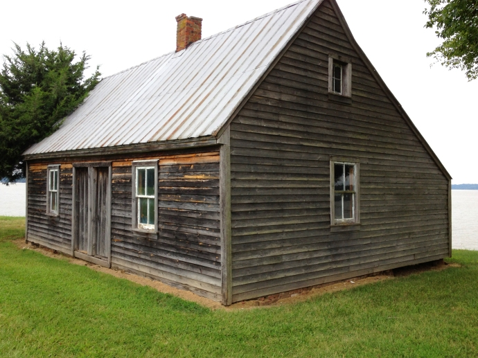 The slave cabin that Booth and Herold are said to have slept in.