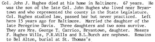 John J. Hughes Obit