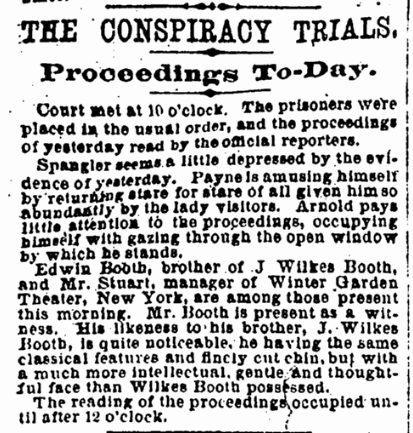 Edwin Booth at the trial