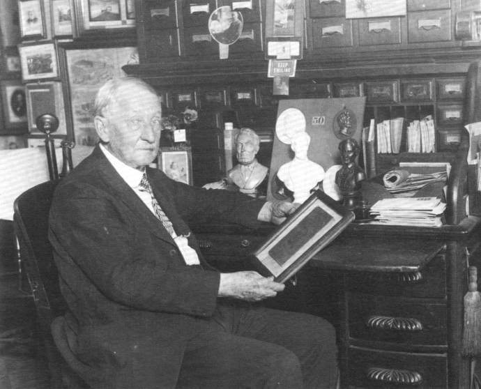Oldroyd in his museum