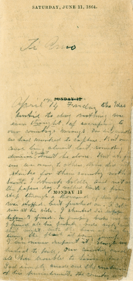 Booth's Handwriting Page 1