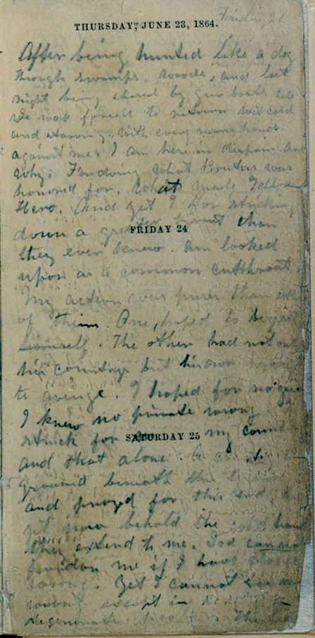 Booth's Handwriting Page 3