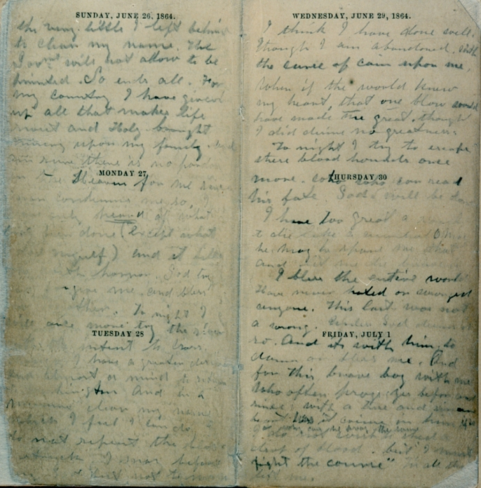 Booth's Handwriting Page 4