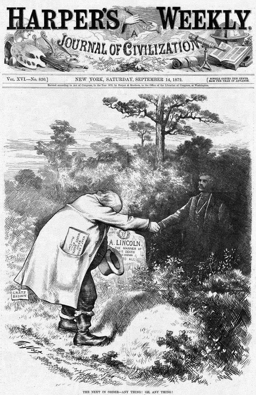 Horace Greeley Shaking Booth S Hand Harper S Boothiebarn