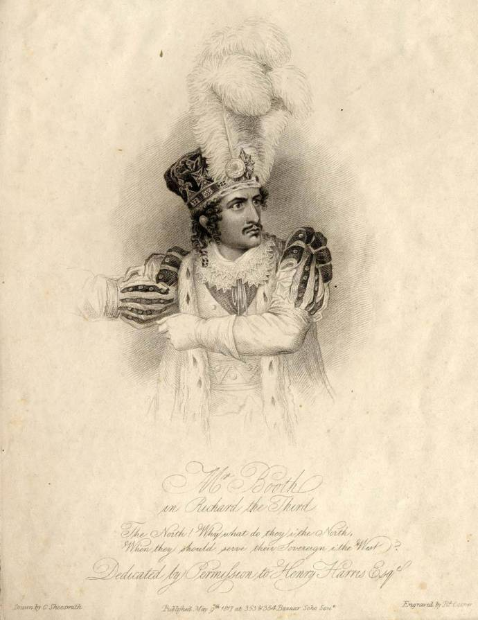 Junius Brutus Booth as Richard III