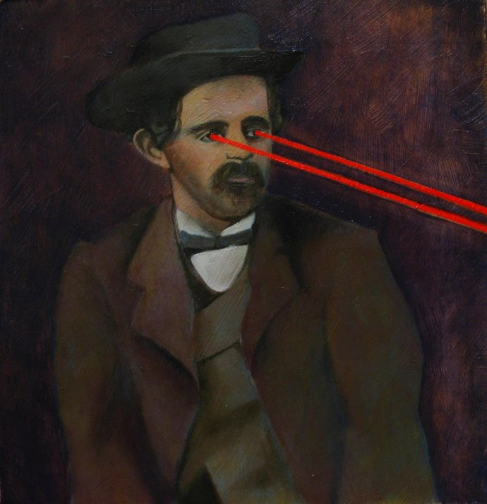 Laser Eyed O'Laughlen Painting