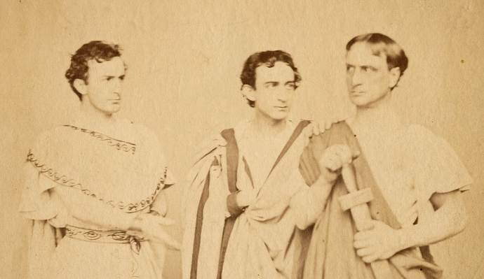 Rose's actor brothers, John Wilkes, Edwin, and Junius.