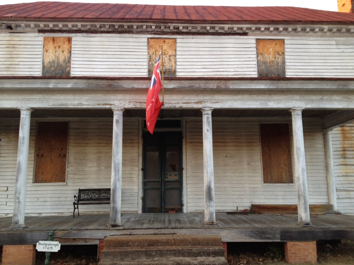 Front porch of the Peyton house