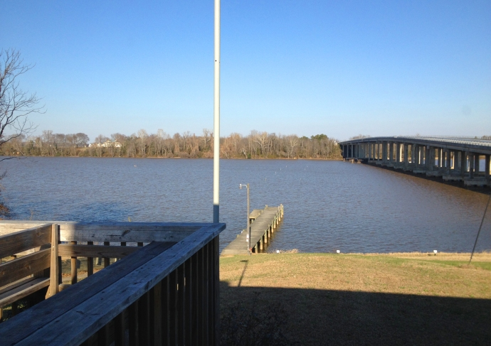 The Rappahannock river will Belle Grove visible on the Port Conway shore.