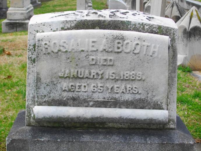Rosalie's grave