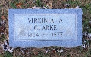 Virginia Clarke's grave