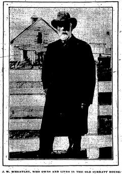 J W Wheatley owner of Surratt House