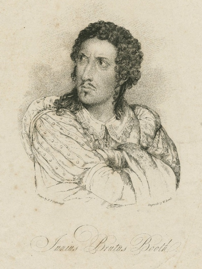 Junius Brutus Booth as Richard the Third.  This engraving was made in 1817.