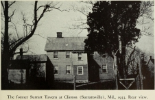 Rear of Surratt tavern 1933 Eisenschmil