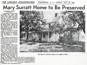 Restoration article Surratt House