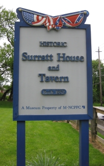 Surratt House and Tavern sign